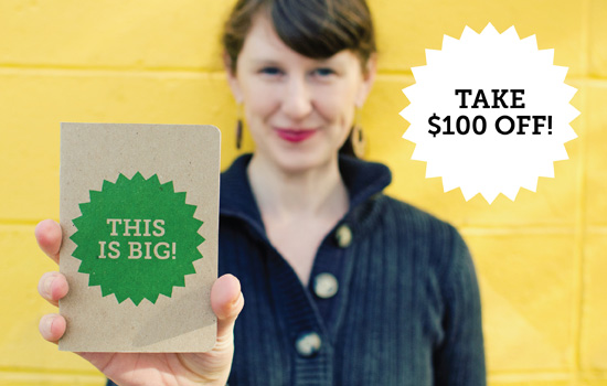 Take $100 Off Any Order of Make Your Own Scout Books