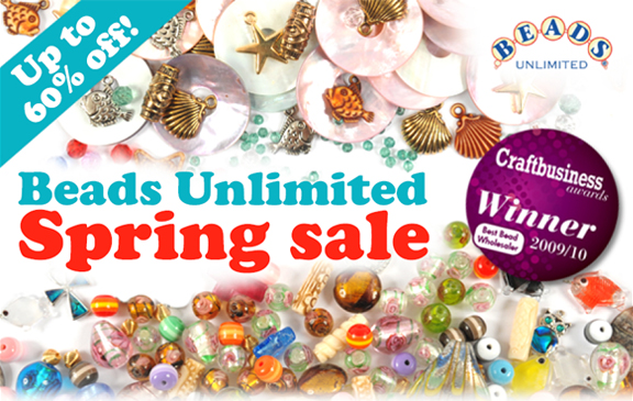 Beads Unlimited Spring Sale